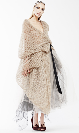 Orenburg knitted lace cardigan