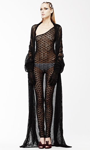 Black knitted jumpsuit